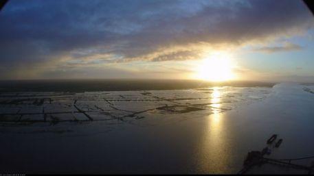 Submersion marine en rive sud de l'estuaire de la Loire, par coefficient de marée de 104