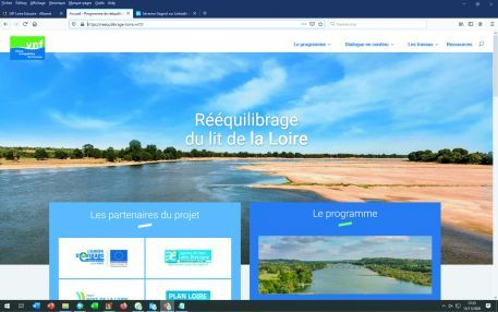 Rééquilibrage du lit de la Loire : un site internet dédié aux actions de VNF