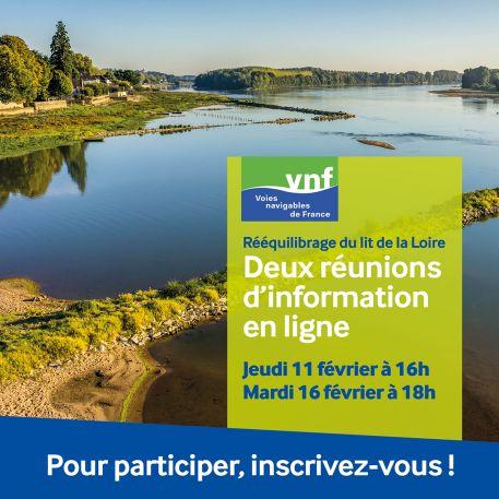 Rééquilibrage du lit de la Loire entre les Ponts-de-Cé et Nantes, participez aux réunions d'information publiques sur le projet !
