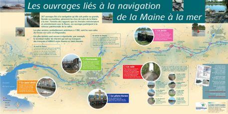 Les ouvrages liés à la navigation de la Maine à la mer