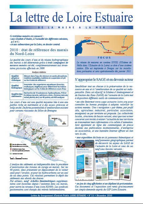 Les submersions par la Loire (dossier Lettre 13, décembre 2010 - format PDF)