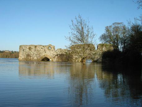La Loire en crue au Cul du Moulin