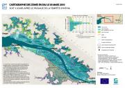 Zones en eau le 03 mars 2010 soit 3 jours après le passage de la tempête Xynthia