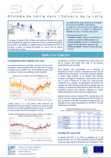 Bulletin SYVEL n°3