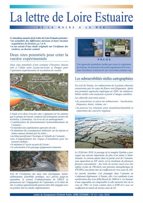 L'avifaune des vasières (dossier Lettre 12, juin 2010 - format PDF)