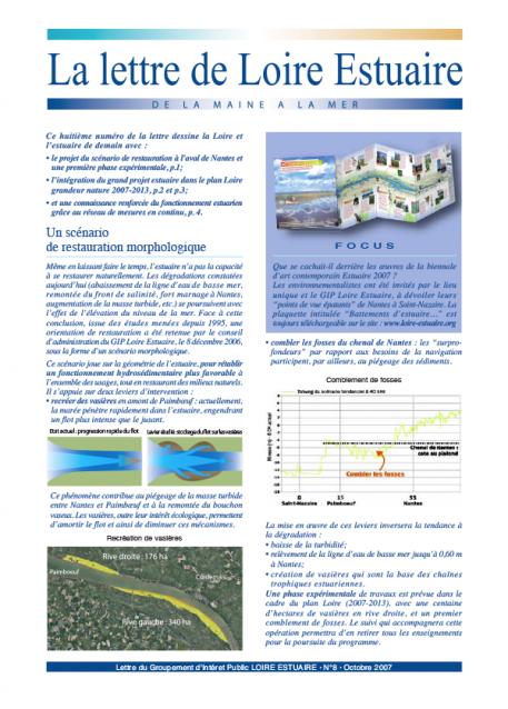 Le plan Loire grandeur nature 2007-2013 (dossier Lettre 8, octobre 2007 - format PDF)