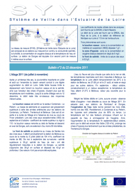 Suivis : Publication du bulletin SYVEL n°2