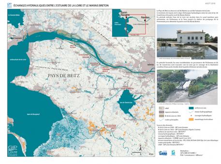 Échanges hydrauliques entre l'estuaire de la Loire et le marais Breton